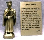 PEWTER STATUE: Saint David.  JC-3048-E.