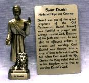 PEWTER STATUE: Saint Daniel.  JC-3026-E.