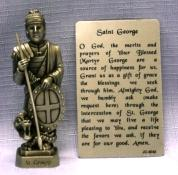 PEWTER STATUE: Saint George.  JC-3052-E.