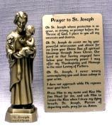 PEWTER STATUE: Saint Joseph.  JC-3009-E.