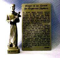 PEWTER STATUE: Saint Gerard (Patron of Expectant Mothers).  JC-3027-E.
