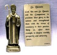PEWTER STATUE: Saint Dennis.  JC-3047-E.