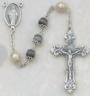 AMETHYST AND PEARL ROSARY.  564S/F.