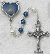 BLUE/PEARL ROSARY. 365D/F.