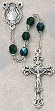 BIRTHSTONE ROSARY: May/Emerald.  875-EMG.