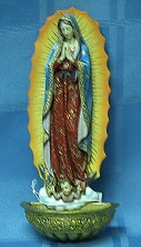 OUR LADY OF GUADALUPE HOLY WATER FONT # 62821