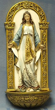 OUR LADY OF GRACE HOLY WATER FONT. 62828.