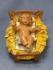 FONTANINI BABY JESUS IN MANGER.     NO. 72513