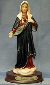 IMMACULATE HEART OF MARY, 8.5 INCHES.