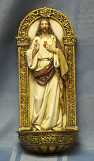 SACRED HEART HOLY WATER FONT 62827