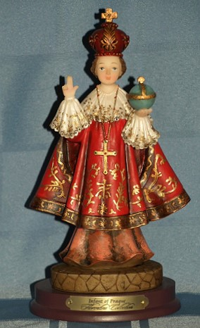 INFANT OF PRAGUE STATUE, 8.5 INCHES.