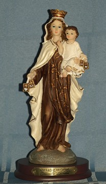OUR LADY OF MOUNT CARMEL, 8.5 INCHES.