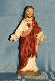 SACRED HEART OF JESUS, 5.5 INCHES.