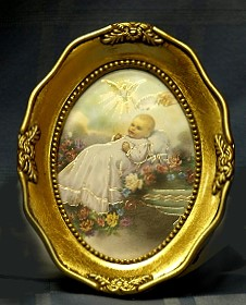 BABY BEING BAPTIZED Framed Picture No. 340-397