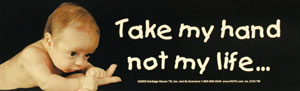TAKE MY HAND BUMPER STICKER