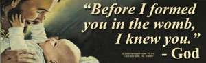 """BEFORE I FORMED YOU' BUMPER STICKER"