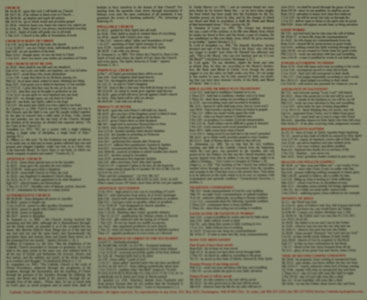 BIBLE CHEAT SHEET, Laminated