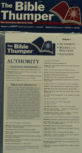 BIBLE THUMPER vol. 1 and 2 by Jim Burnham, Matthew Pinto and Brian Butler.