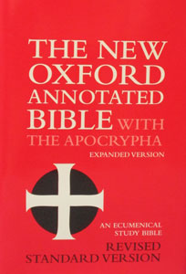 THE NEW OXFORD ANNOTATED BIBLE with Apocrypha.
