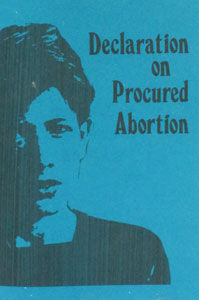 DECLARATION ON PROCURED ABORTION.
