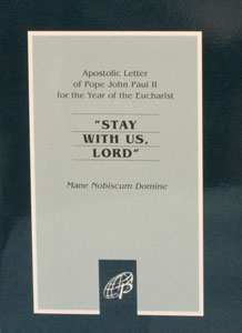 STAY WITH US LORD (Mane Nobiscum Domine)