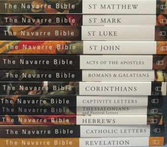 COMPLETE SET OF NAVARRE BIBLE COMMENTARY PAPERBACK FOR NEW TESTAMENT 12 VOLUMES