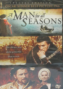 A MAN FOR ALL SEASONS. DVD.