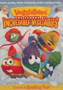 VEGGIETALES: THE LEAGUE OF INCREDIBLE VEGETABLES. DVD.