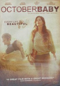 OCTOBER BABY. DVD.