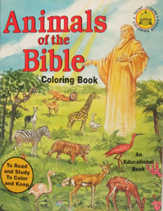 ANIMALS OF THE BIBLE, Coloring Book #678