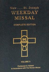 ST. JOSEPH WEEKDAY MISSAL. VOL 2 # 921/09.