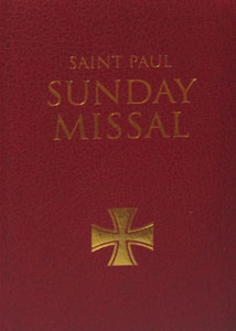 SAINT PAUL SUNDAY MISSAL prepared by the Daughters of St. Paul. Burgundy Leatherflex cover.