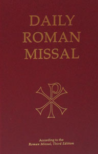 DAILY ROMAN MISSAL. Third Ed.  Latest and most up to date edition. Burgundy Hardcover. 2496 pp