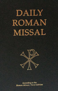 DAILY ROMAN MISSAL. Third Ed.  Latest and most up to date edition. Black Hardcover. 2496 pp