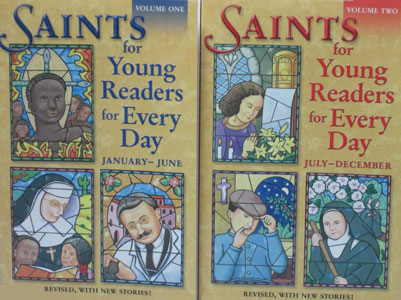 SAINTS FOR YOUNG READERS FOR EVERY DAY  Vol. 1 and 2
