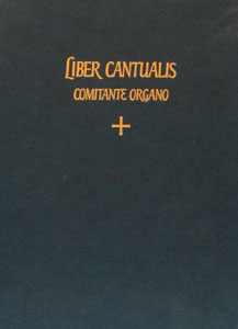 LIBER CANTUALIS, 1978 edition. Organ Accompaniment book.