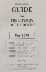 ANNUAL GUIDE FOR 4 VOL. LITURGY OF THE HOURS
