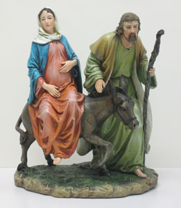 MARY AND JOSEPH ON THEIR WAY TO BETHLEHEM # 40723