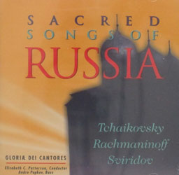 SACRED SONGS OF RUSSIA. Gloriae Dei Cantores. CD.