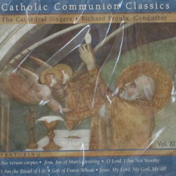 CATHOLIC COMMUNION CLASSICS, The Cathedral Singers CD