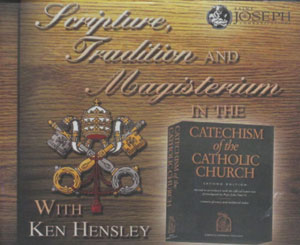 SCRIPTURE, TRADITION AND MAGISTERIUM In The Catechism Of The Catholic Church. (compact discs)