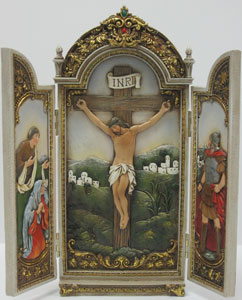 CRUCIFIXION TRIPTYCH   #41248