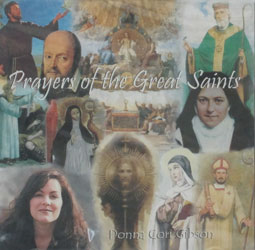 PRAYERS OF THE GREAT SAINTS by DONNA CORI GIBSON  CD