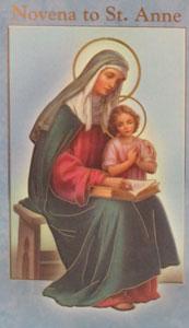 NOVENA TO ST. ANNE by DANIEL A. LORD, S.J.