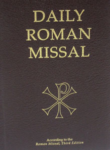 DAILY ROMAN MISSAL. Third Ed.  Latest and most up to date edition. Burgundy padded leather cover. 2496 pp