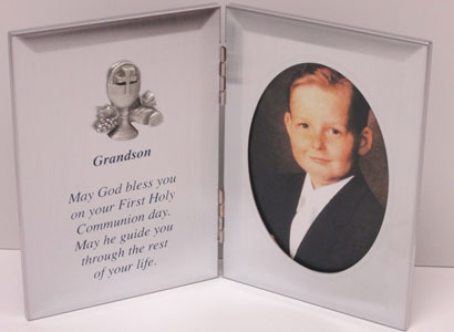 FIRST COMMUNION FRAME GRANDSON  76-11