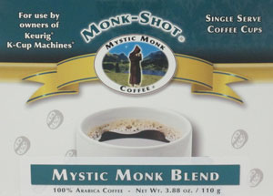 MYSTIC MONK COFFEE-MYSTIC MONK BLEND MONK SHOT