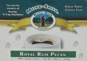 MYSTIC MONK COFFEE-ROYAL RUM PECAN MONK SHOTS