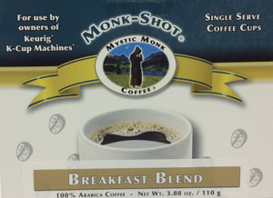 MYSTIC MONK COFFEE-BREAKFAST BLEND MONK SHOTS