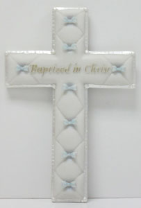 BAPTIZED IN CHRIST CROSS, BLUE (42829)